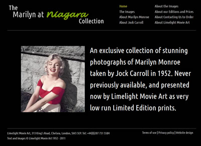 The Marilyn at Niagara collection homepage