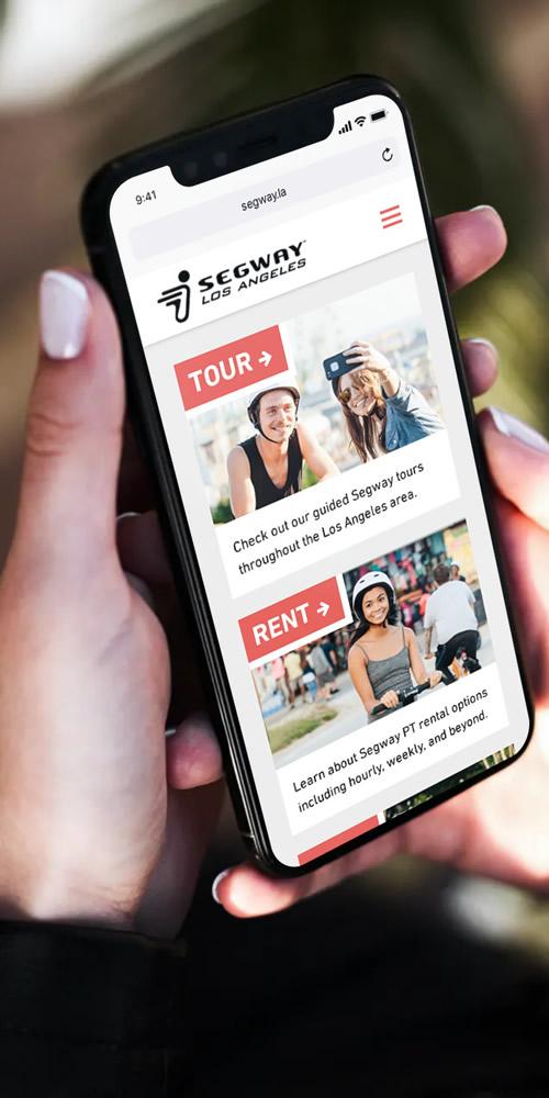 Segway Los Angeles on smartphone